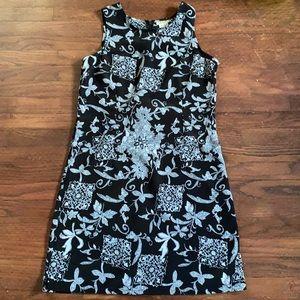 Jessica Black and white print dress.